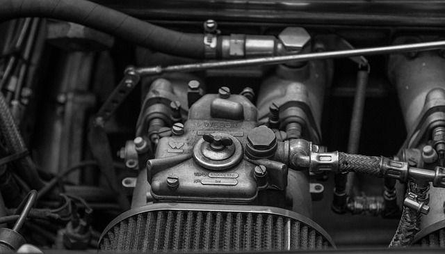 Nahaufnahme eines Automotors