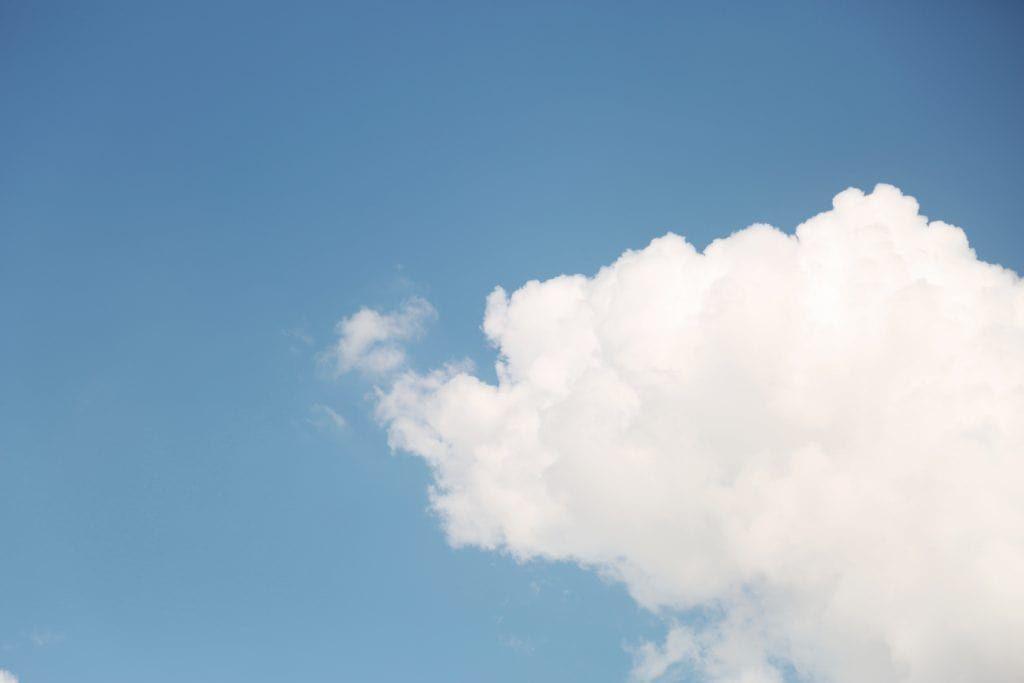 Wolken als Symbol für die Cloud