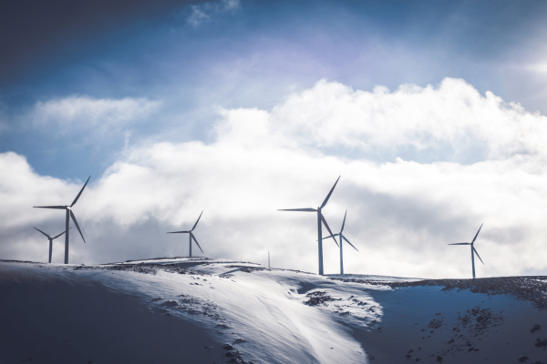 Windräder für erneuerbare Energie