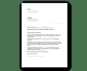Vorschau des Antrags zur Korrektur der Versteuerungsmethode