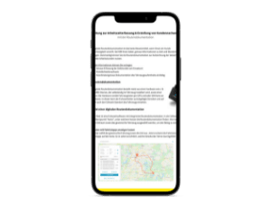 Arbeitszeiterfassung auf Smartphone geöffnet
