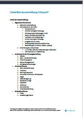 Checkliste für Ausschreibungen