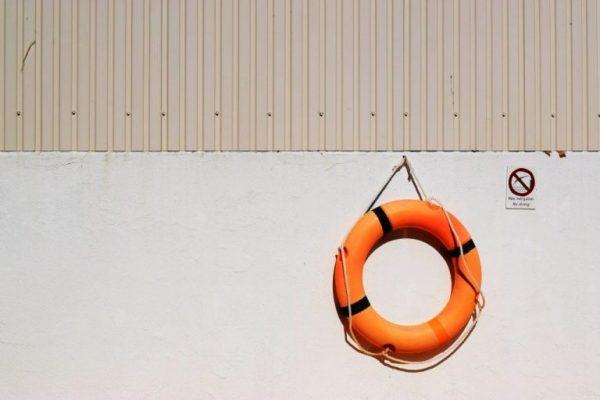 Rettungsring als Symbol für Sicherheit