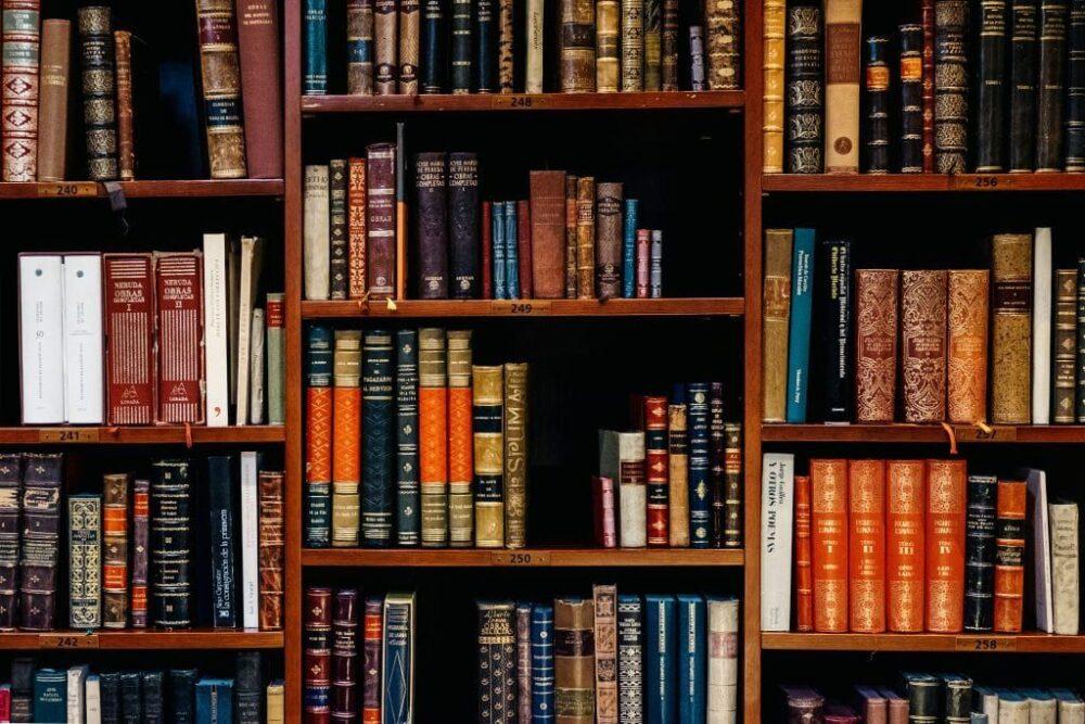 Gesetzbücher in einem Regal