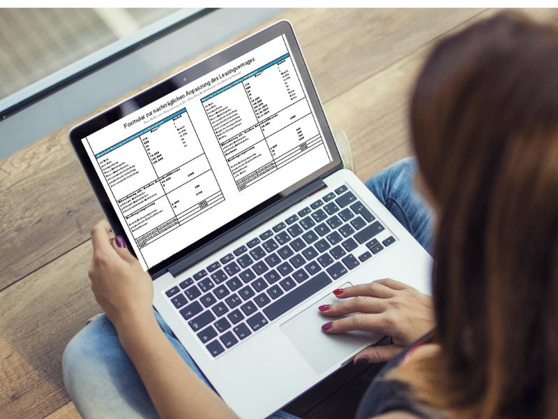 Laptop - Vorlage Anpassung Leasingvertrag