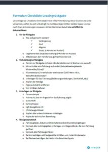 Vorschau der Checkliste zum Neuwagenkauf