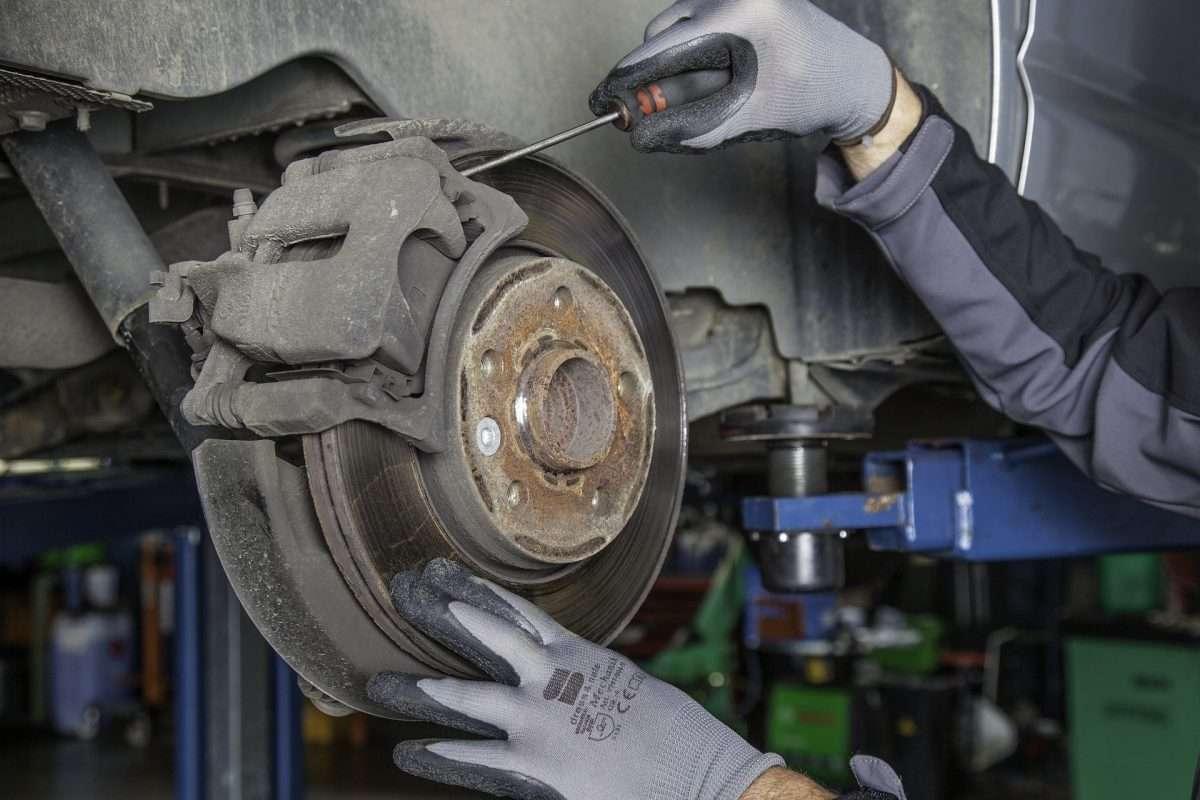 Bremsscheibe wird repariert