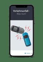 eBook Verkehrsunfall auf Smartphone geöffnet