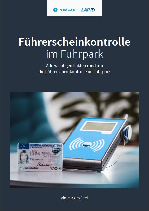 Deckblatt der Broschüre zur Führerscheinkontrolle