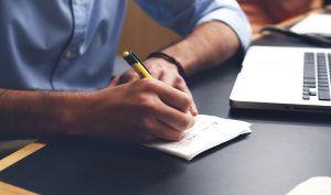 Schriftliche Rechnung der Versteuerung