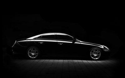 Schwarzes Auto als Dienstwagen