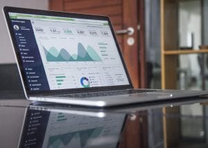 Darstellung Verwaltungsübersicht auf einem Laptop