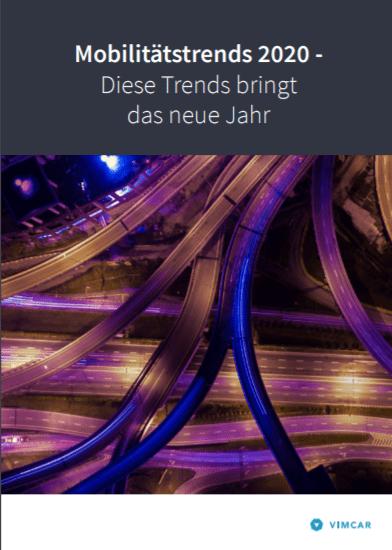 Titelblatt Mobilitätstrends 2020