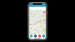 Smartphone mit Vimcar App