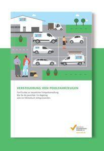 die Broschüre zu der Firmenwagenversteuerung von Poolfahrzeugen