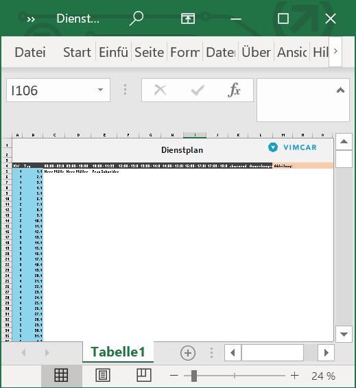 Dienstplan Vorlage Die Excel Vorlage Fur Ihren Betrieb