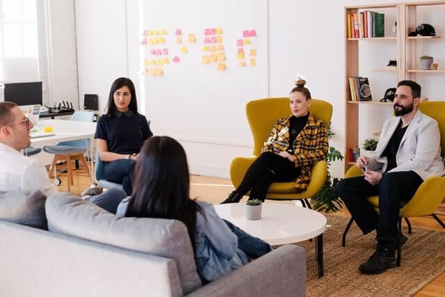 ein Team-Meeting