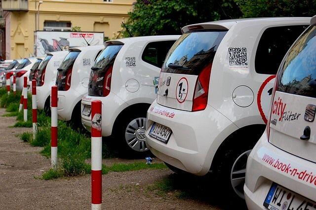 Verfügbare Autos zum Carsharing