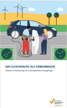 Broschüre Versteuerung von Elektroautos