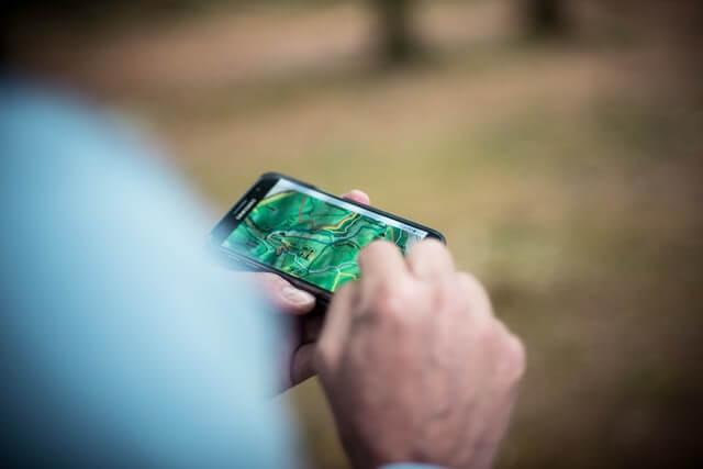 GPS Ortungssystem auf Smartphone