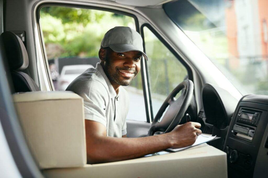 Lieferant in Auto