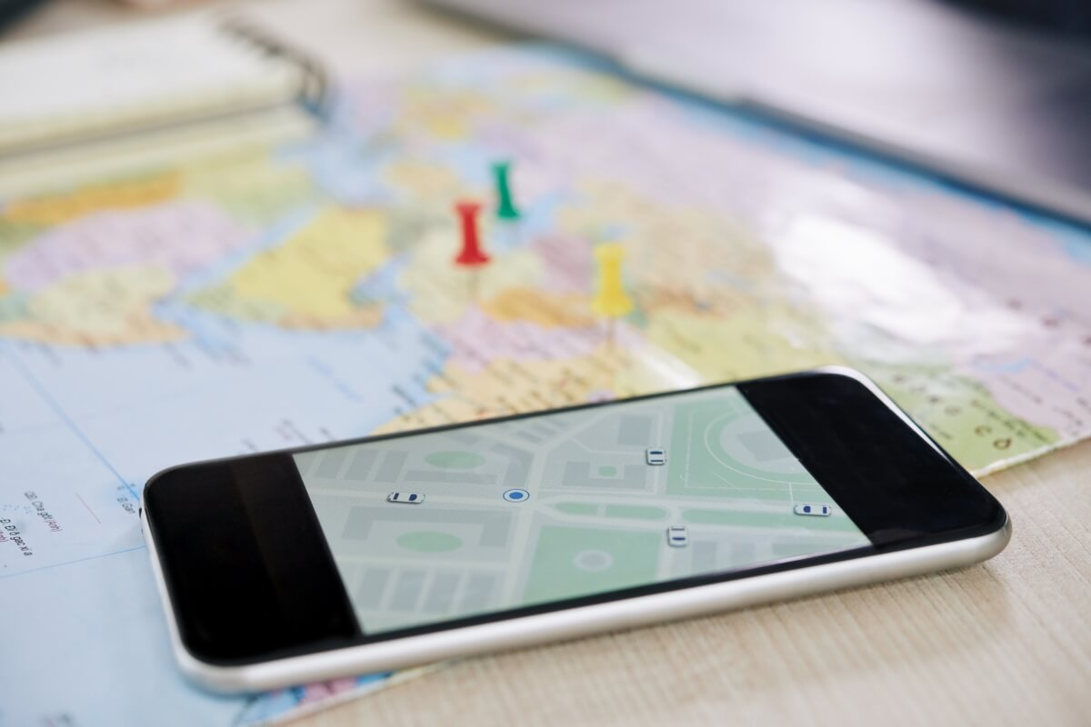 Tracking App auf Smartphone