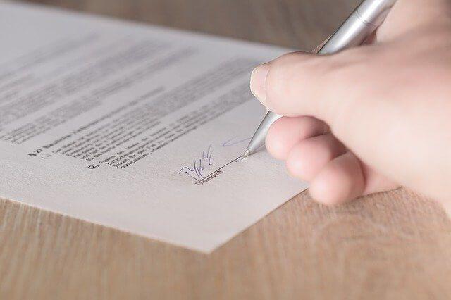 Unterzeichnung Dienstwagenüberlassungsvertrag