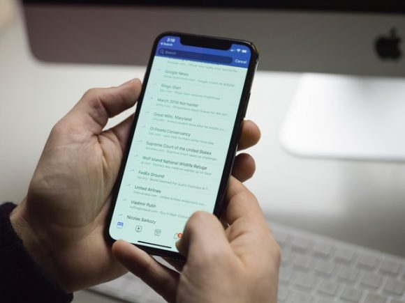 Liste im Smartphone