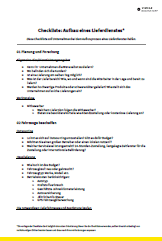 Checkliste Aufbau eines Lieferdienstes