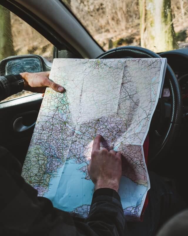 Routenplanung mit Karte