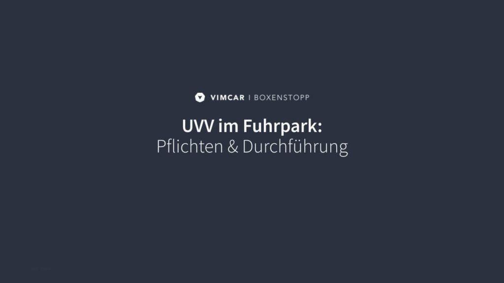 UVV Videobild