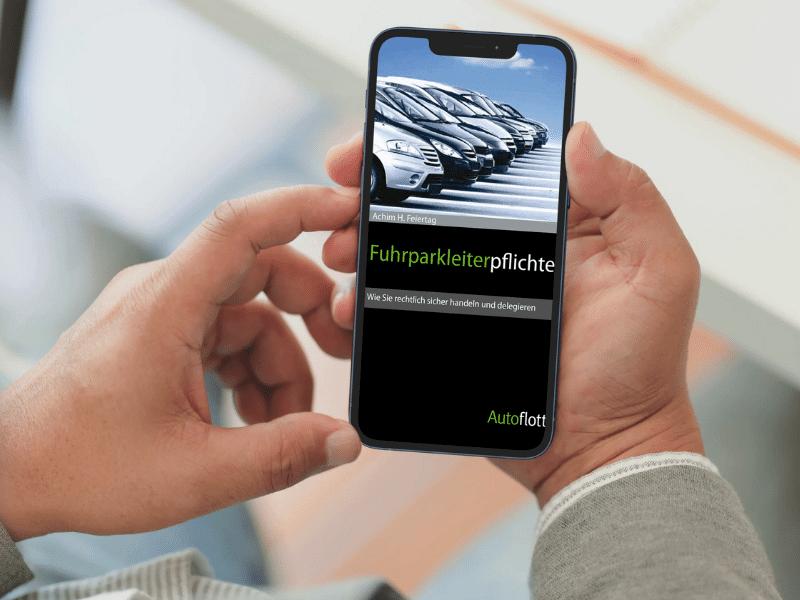 eBook Fuhrparkleiterflichten auf Smartphone geöffnet