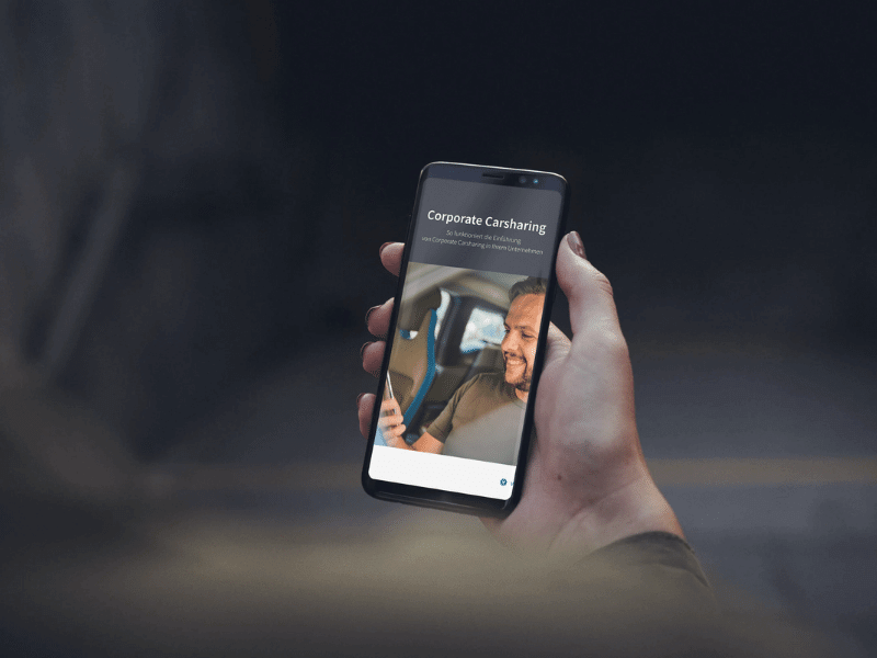 eBook Carsharing auf Smartphone geöffnet