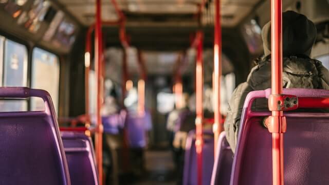 Innenansicht vom Bus