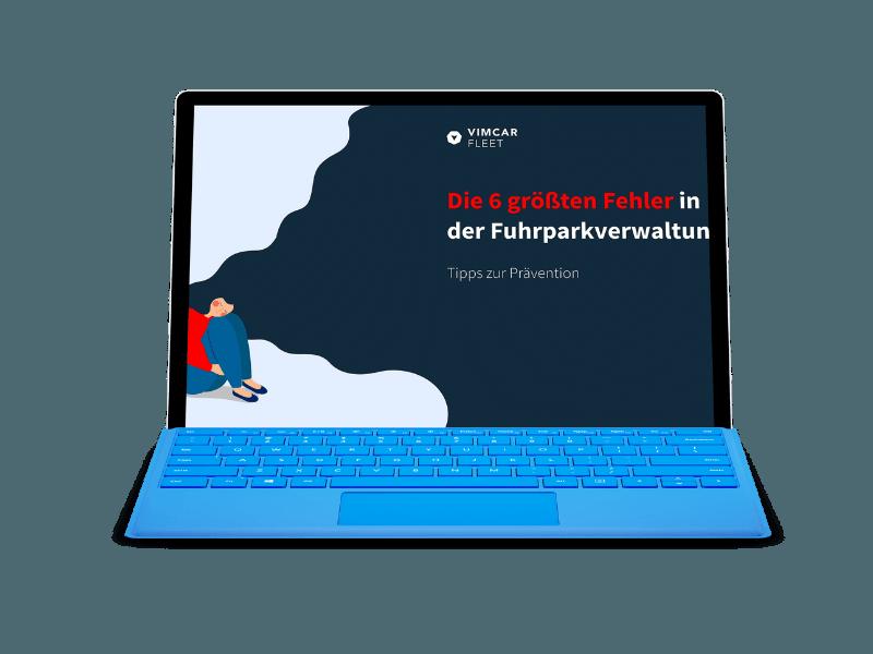 eBook Fuhrparkfehler auf Laptop geöffnet