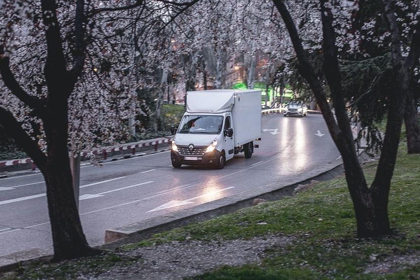Kleintransporter unterwegs