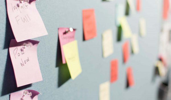 Post-It Planung einer Unternehmensgründung